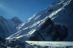 冰川喜马拉雅山 库存照片