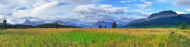 冰川国家公园在夏天 库存照片