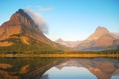 冰川国家公园在蒙大拿 免版税库存照片
