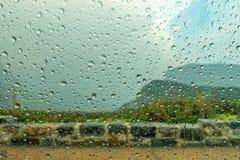 冰川国家公园摇石通行证 免版税库存图片