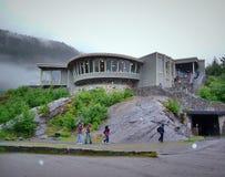 冰川国家公园现代建筑设计 免版税库存照片