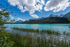冰川国家公园风景-加拿大 库存图片