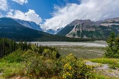 冰川国家公园风景-加拿大 库存照片