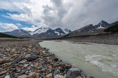 冰川国家公园风景-加拿大 免版税库存照片
