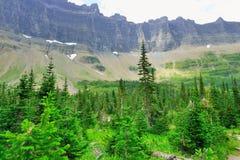 冰川国家公园高山风景 免版税库存图片