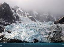 冰川在南乔治亚南极洲 库存照片
