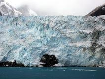 冰川在南乔治亚南极洲 库存图片