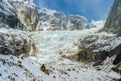冰川在喜马拉雅地区 免版税库存照片