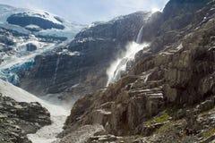 冰川在挪威 免版税库存图片