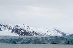 冰川在斯瓦尔巴特群岛 库存照片