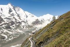 冰川在阿尔卑斯 免版税库存图片