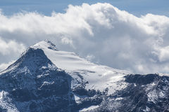 冰川在Hohe Tauern在夏天 免版税图库摄影