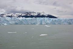 冰川墙壁全景  库存图片