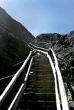 冰川对较大的grindelwald步骤 库存图片