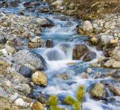 冰川小河流动的水 免版税图库摄影