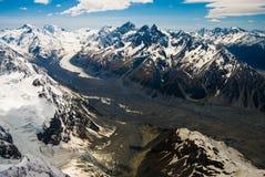 冰川山新西兰 免版税库存图片
