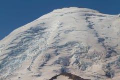 冰川山顶 库存图片
