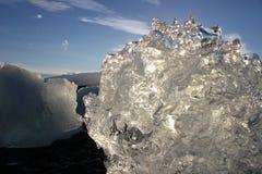 冰川惊人的片断  图库摄影