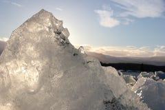 冰川惊人的片断  免版税库存照片