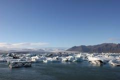 冰川惊人的片断  库存图片