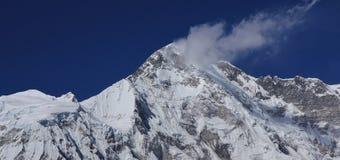 冰川报道的登上卓奥友峰峰顶 免版税库存照片