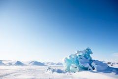 冰川横向 免版税库存图片