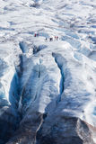 冰川步行 免版税库存图片