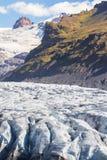 冰川步行 免版税图库摄影