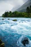 冰川河 免版税库存照片