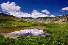 冰川湖视图 库存图片