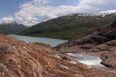 冰川湖 库存照片
