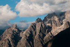 冰川的看法在山的 图库摄影