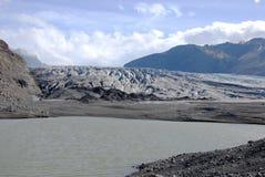 冰川的边缘在冰岛 免版税库存图片