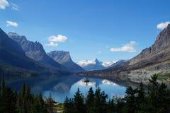 冰川的NP湖 库存图片