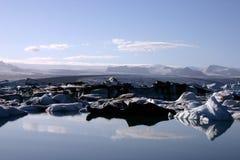 冰川盐水湖 免版税库存图片