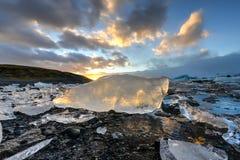 冰川盐水湖, Jokulsarlon,冰岛 库存图片
