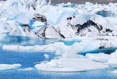 冰川盐水湖 免版税图库摄影