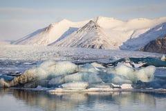 冰川盐水湖 免版税库存照片