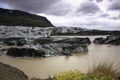 冰川盐水湖 图库摄影