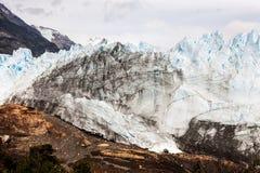 冰川莫尔诺perito 西南S的Los Glaciares国家公园 免版税库存照片