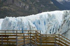 冰川莫尔诺perito 阿根廷巴塔哥尼亚 库存照片