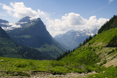 冰川蒙大拿国家公园 免版税库存图片