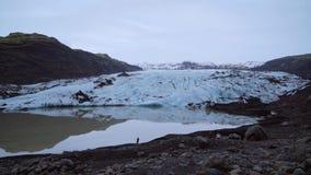 冰川视图 北欧人展望天 股票视频