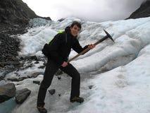 冰川远足 免版税库存照片