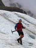 冰川远足 库存图片