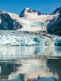 冰川遇见海 免版税库存图片