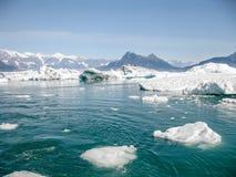 冰川遇见海 库存图片