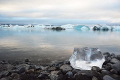 冰川风景在冰岛 库存图片