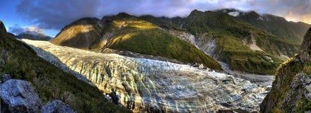 冰川风景外型的全景 免版税库存照片