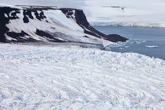 冰川鸟瞰图  免版税图库摄影
